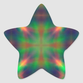 Soft Rainbow Lights X Shaped Abstract Design Star Sticker