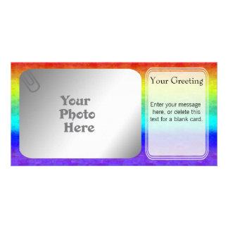 Soft Rainbow PhotoCard Template Photo Greeting Card