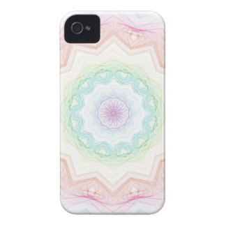 Soft Rainbow Spirograph iPhone 4 Cover