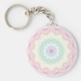 Soft Rainbow Spirograph Keychain