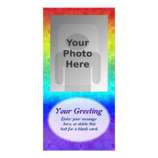Soft Rainbow Vertical PhotoCard Template Photo Card Template