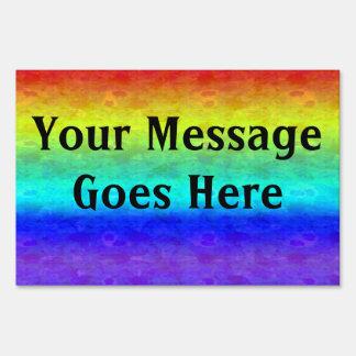 Soft Rainbow Yard Sign