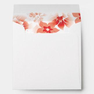Soft Red Flowers inside Envelopes