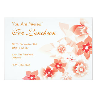 Soft Red Flowers - Invite - 1