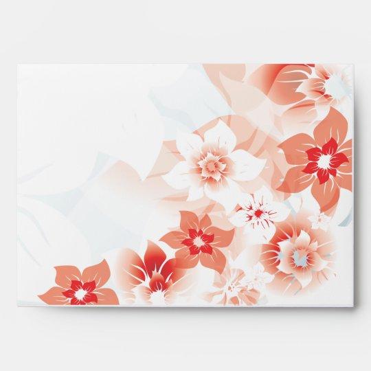 Soft Red Flowers - Invite Envelope - 1