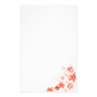 Soft Red Flowers - Stationary - 1 Stationery