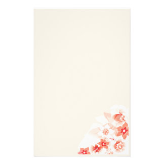 Soft Red Flowers - Stationary - 2 Stationery