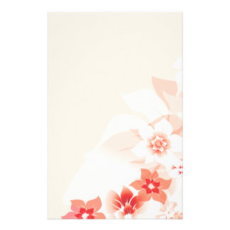 Soft Red Flowers - Stationary - 4 Stationery