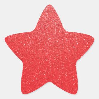 Soft Red Glitter Star Sticker