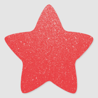 Soft Red Glitter Stickers