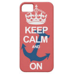 Soft Red Keep Calm & Carry On Sailng iPhone Case iPhone 5 Cover