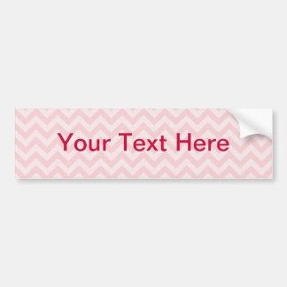 Soft red pink zigzag pattern car bumper sticker