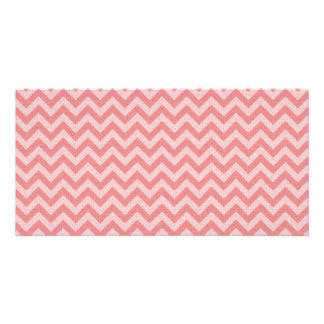 Soft red pink zigzag pattern card