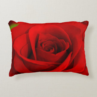 Soft Red Rose Pillow Accent Pillow