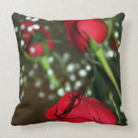 Soft Red Roses Pillow