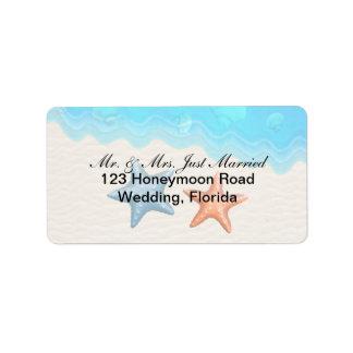 Soft Seashells Address Label