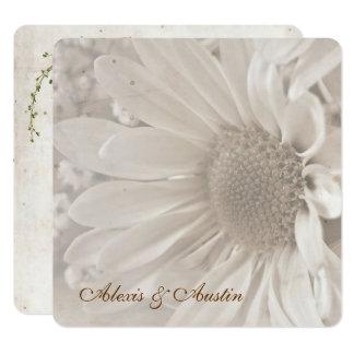 Soft Sepia Wedding Daisy Card