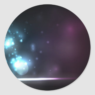Soft Shining Particles Classic Round Sticker
