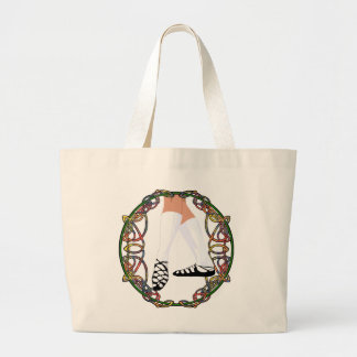 Soft Shoe Dancer - Celtic Knotwork Jumbo Tote Bag