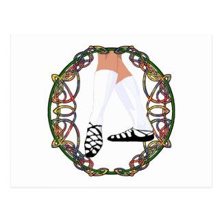 Soft Shoe Dancer - Celtic Knotwork Postcard
