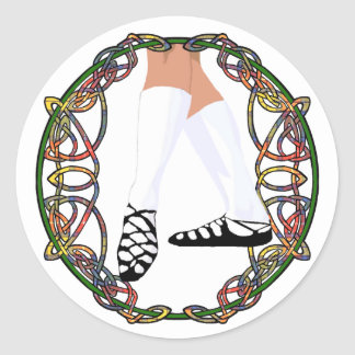 Soft Shoe Dancer - Celtic Knotwork Classic Round Sticker
