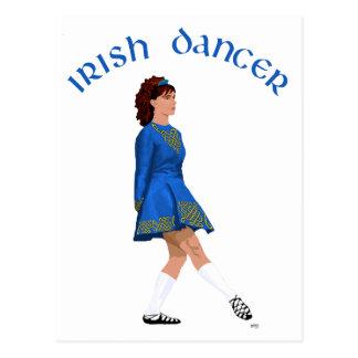 Soft Shoe Irish Dancer in Blue Postcard