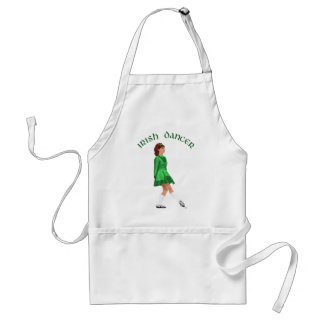 Soft Shoe Irish Dancer in Green Adult Apron