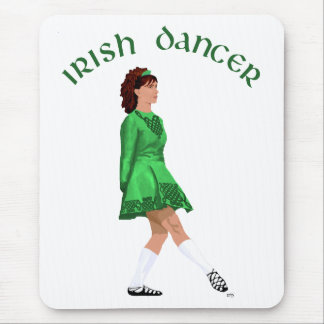 Soft Shoe Irish Dancer in Green Mouse Pad
