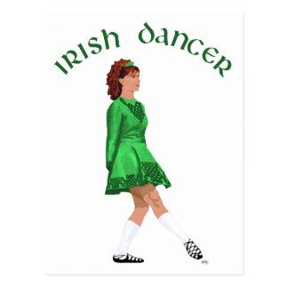 Soft Shoe Irish Dancer in Green Postcard
