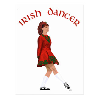 Soft Shoe Irish Dancer in Red Postcard