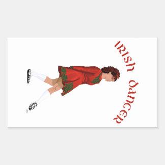 Soft Shoe Irish Dancer in Red Rectangular Sticker