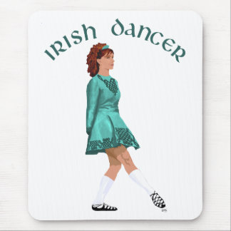 Soft Shoe Irish Dancer in Turquoise Mouse Pad