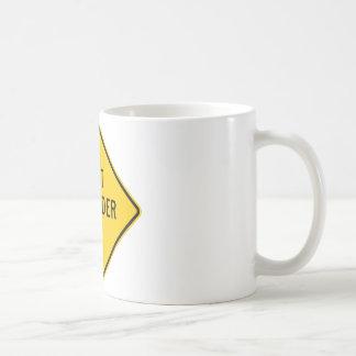 Soft Shoulder Highway Sign Coffee Mug