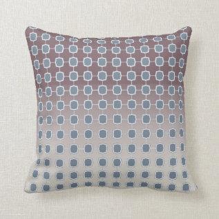 Soft Silver Quatrefoil Gradient Grid Throw Pillow at Zazzle
