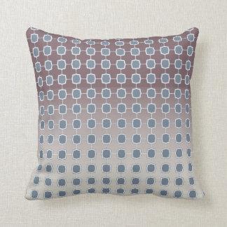 Soft Silver Quatrefoil Gradient Grid Throw Pillow