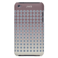 Soft Silver Quatrefoil Graduated Grid Ipod Case-mate Case at Zazzle