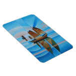 Soft Skies and Cerulean Seas Rectangle Magnets