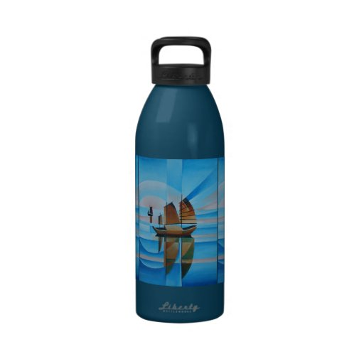 Soft Skies and Cerulean Seas Reusable Water Bottle