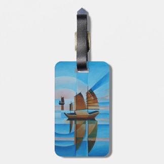 Soft Skies, Cerulean Seas and Cubist Junks Bag Tag