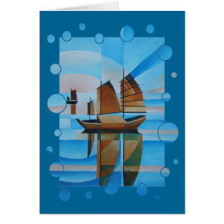 Soft Skies, Cerulean Seas and Cubist Junks Card