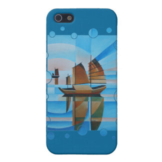 Soft Skies, Cerulean Seas and Cubist Junks iPhone SE/5/5s Case