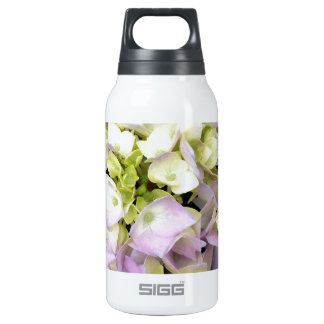 Soft Spring Hydrangea Blossoms Pink Lavender Green Thermos Water Bottle