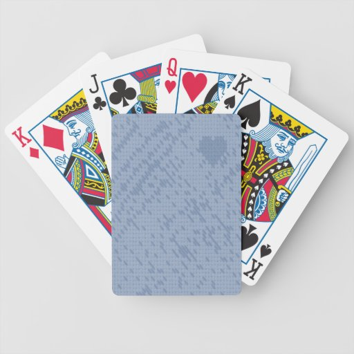 soft stitch blue -love playing cards