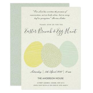 SOFT SUBTLE PASTEL EASTER EGGS BRUNCH & EGG HUNT INVITATION
