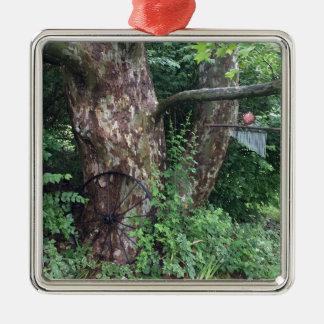Soft summer rain metal ornament