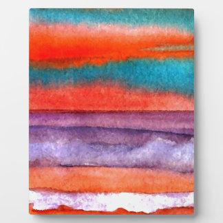 Soft Sun Play Beach Sunset Ocean Waves Art Display Plaques