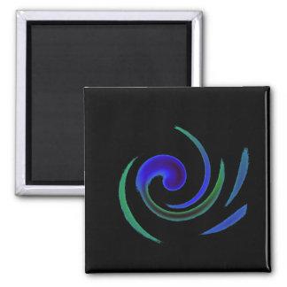 Soft Swirl 2 Inch Square Magnet