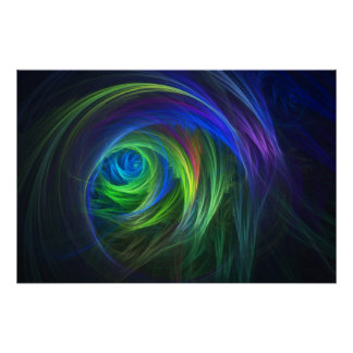 """Soft Swirl"" Fractal Abstract Poster"