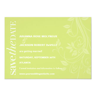 Soft Swirls Save the Date Invitation