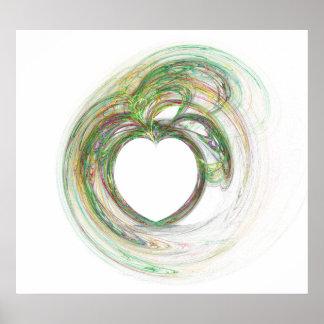 Soft Swirly Heart Posters